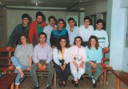 Grupo de jóvenes miembros de la Asociación - 1988