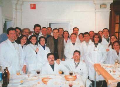 Visita del Alcalde previa al primer Belén Municipal - 1998