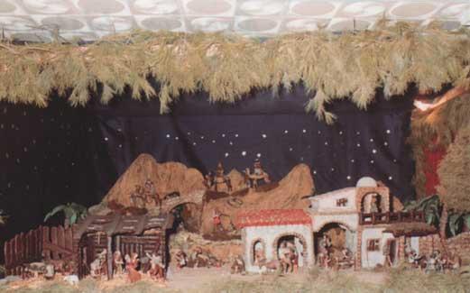 Primer Belén en la Parroquia de San Agatángelo - 1987